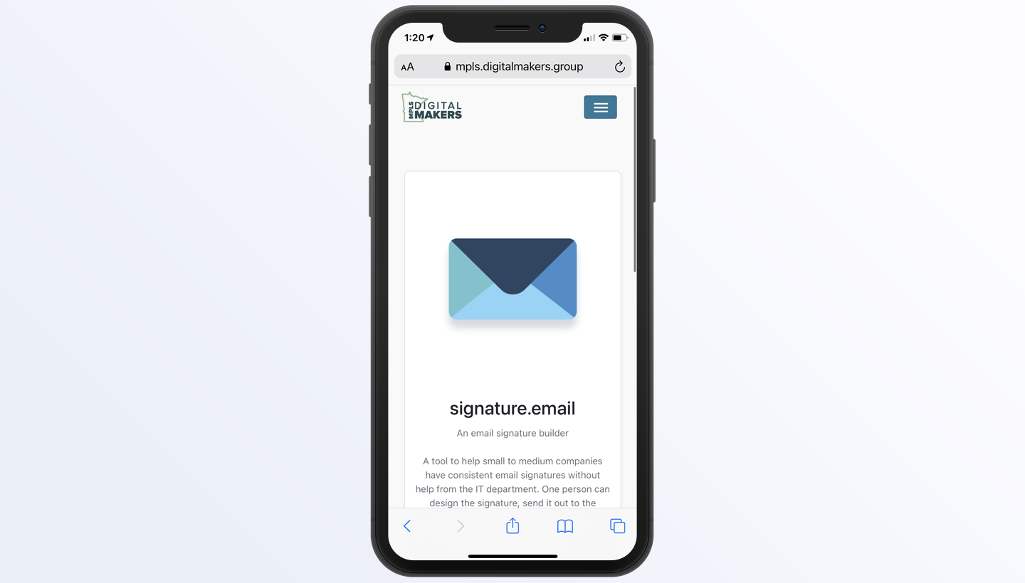 add signature to iPhone Mail step 1