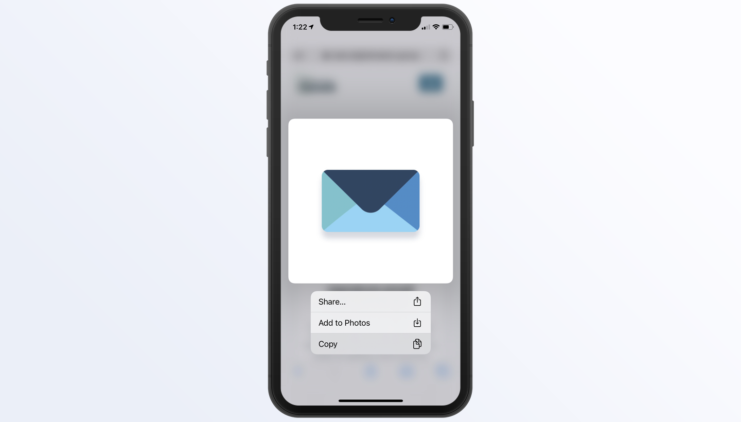 add signature to iPhone Mail step 2