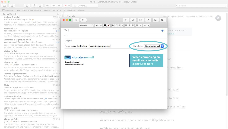 add signature to mac mail step 8