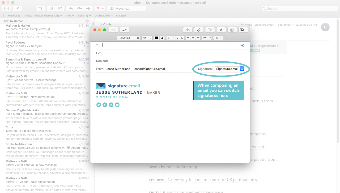 add signature to mac mail step 9