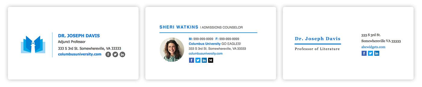 Professional email signatures