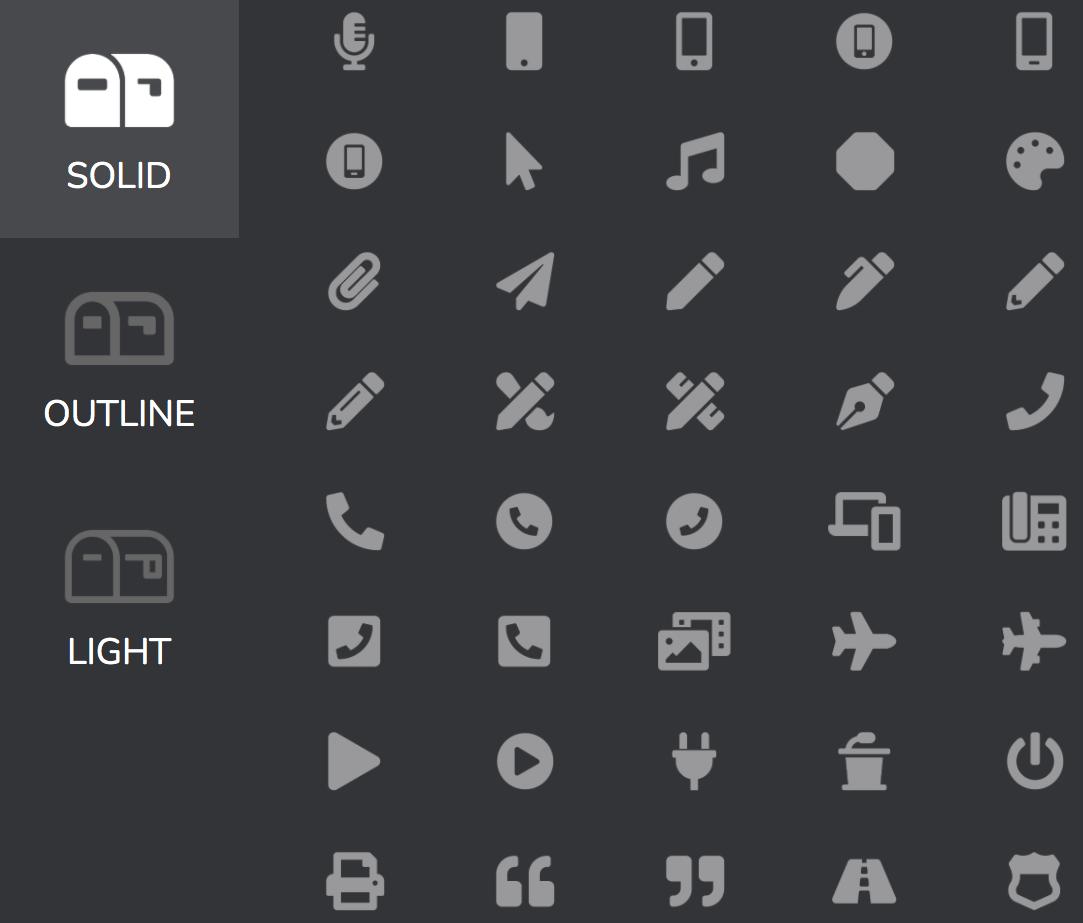 Premium feature: icons