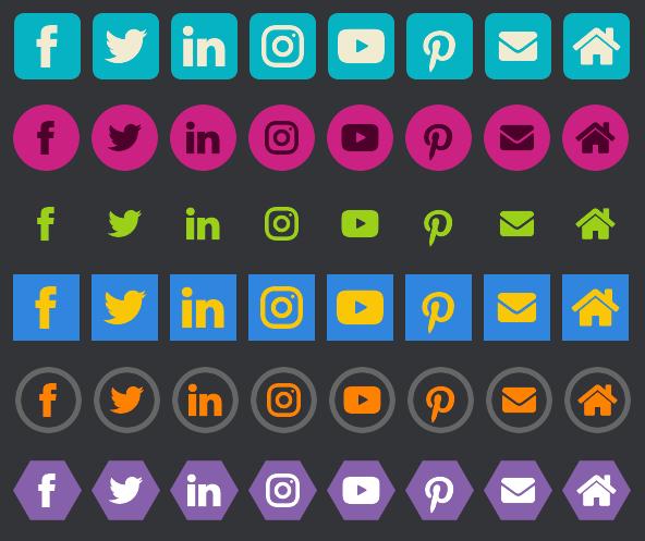 Premium feature: social icons